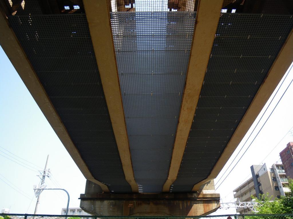 某私鉄 橋梁覆板(ハイブリッド・グレーチング)設置