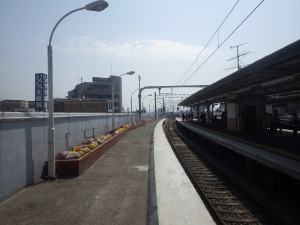 17・18 園田駅4号線降車ホーム先端タイル撤去 (1)