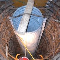 某私鉄 深礎工 電柱基礎