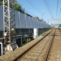 某私鉄 線路際背壁取り替え工事