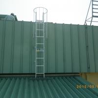某駅舎屋上 塔屋タラップ設置