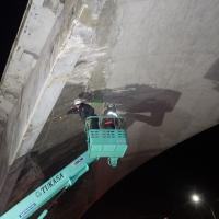 神戸高架橋打音調査 (3)